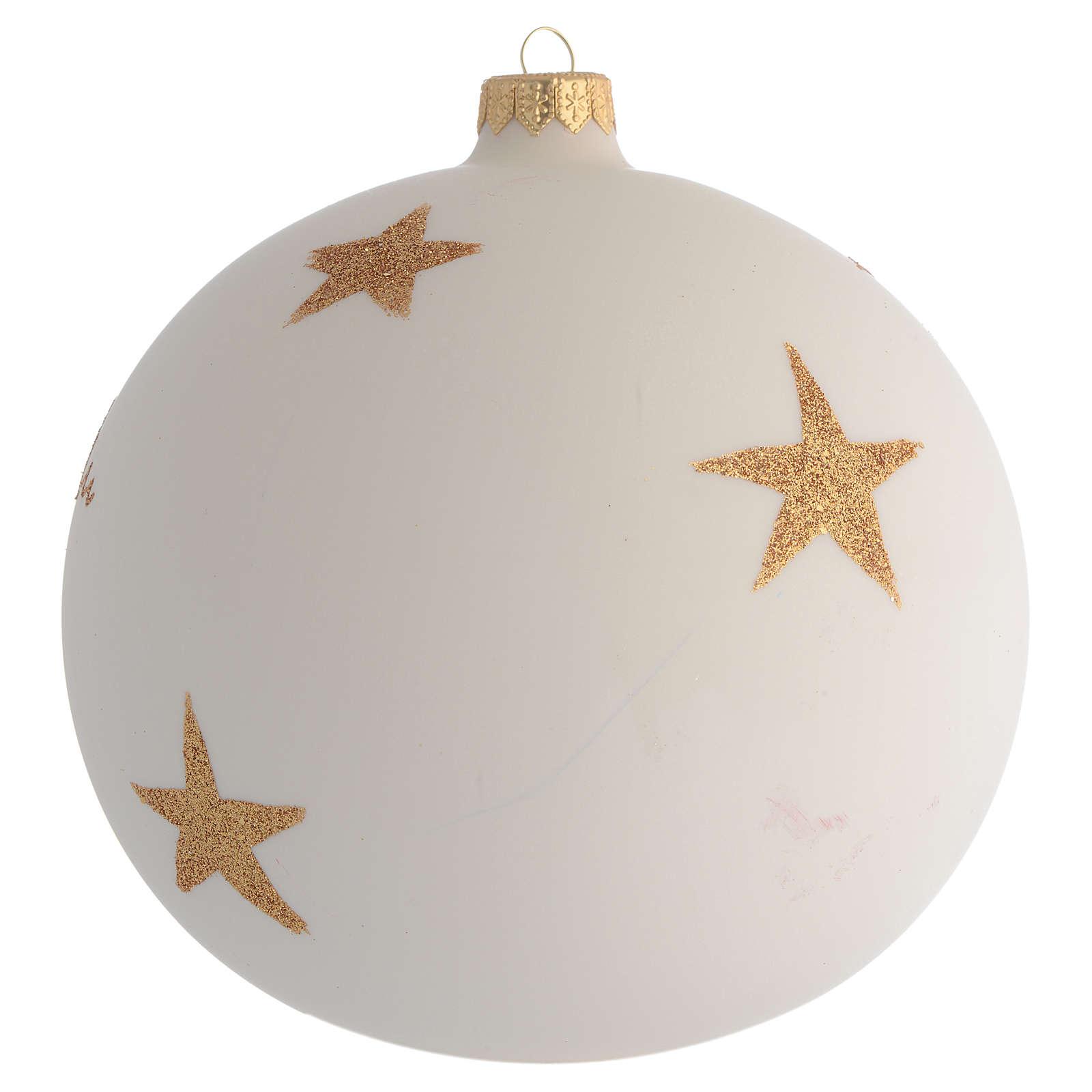Boule pour Noël décor rose de Noël découpage 150 mm 4