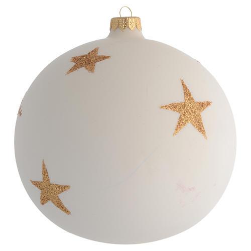 Boule pour Noël décor rose de Noël découpage 150 mm 2
