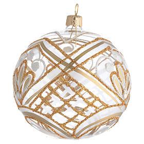 Christmas Bauble blown glass golden decoration 10cm s2