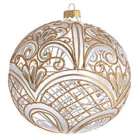 Bola de Navidad vidrio soplado decoración dorada 150 mm s1