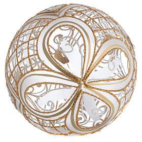 Palla Albero vetro soffiato decoro dorato 150 mm s2