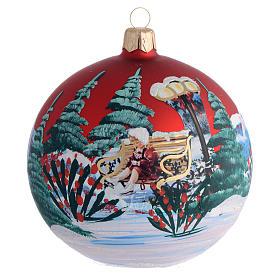 Bola de Navidad vidrio soplado decoupage niña 100 mm s1