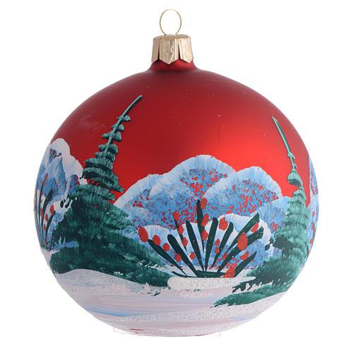 Bola de Navidad vidrio soplado decoupage niña 100 mm 2