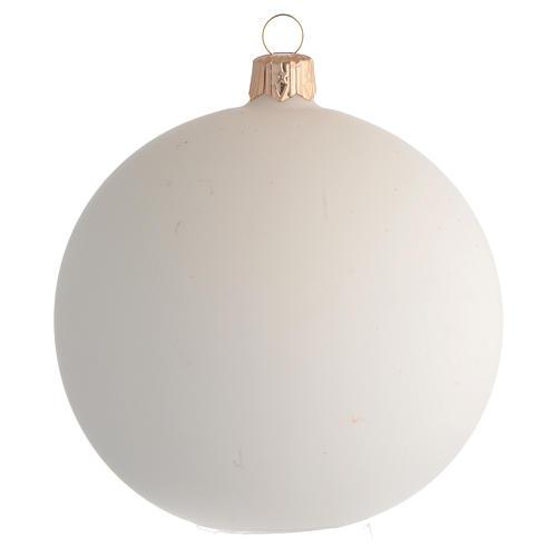 Boule pour Noël Jean-Paul II verre soufflé 100 mm 2