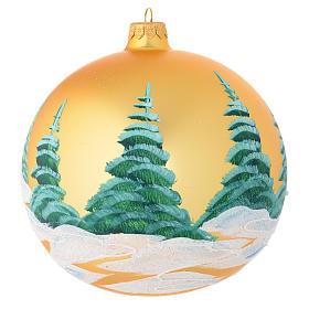 Bola de Navidad vidrio soplado oro decoraciones casas 150 mm s2