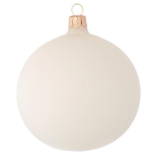 Bombka bożonarodzeniowa z Janem Pawłem II szkło dmuchane 100mm 2