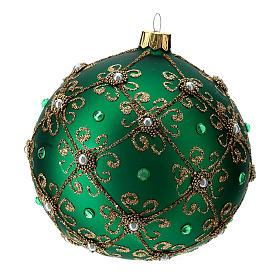 Ardorno de Navidad bola verde y oro 100 mm s3