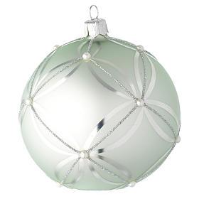 Bola de Navidad de vidrio verde metalizado 100 mm s2