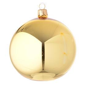 Bola de Navidad de vidrio dorado lúcido 100 mm s1
