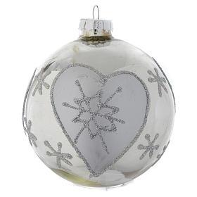 Palla vetro Albero di Natale Silver 90 mm s3