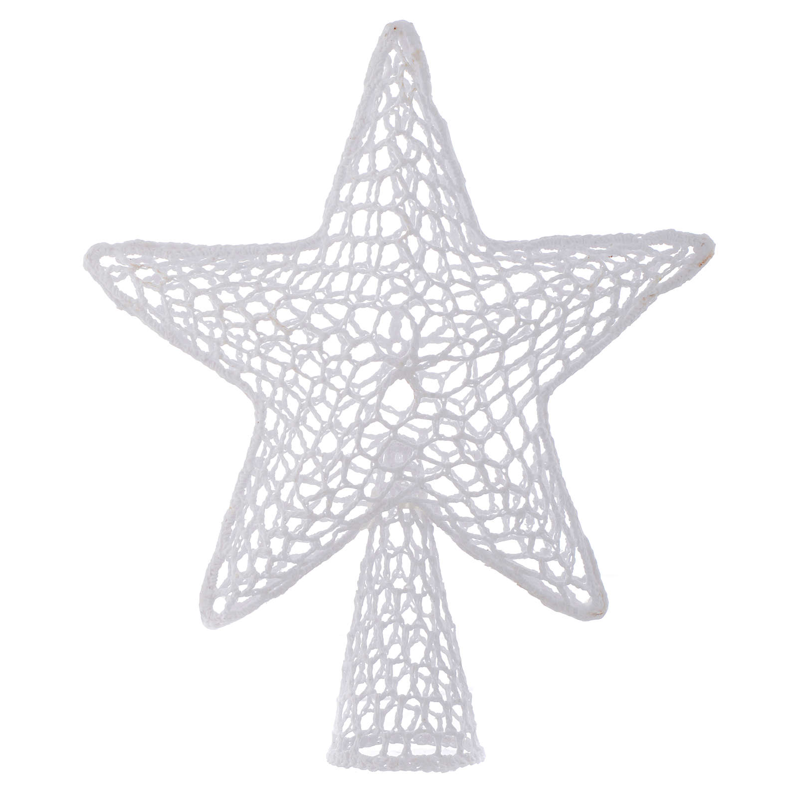 Topper for Christmas tree with embroidered star, white 4