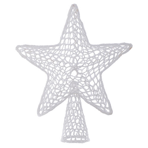 Topper for Christmas tree with embroidered star, white 1