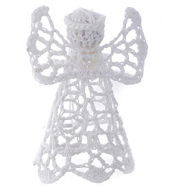Adorno árvore Natal anjo bordado branco s1