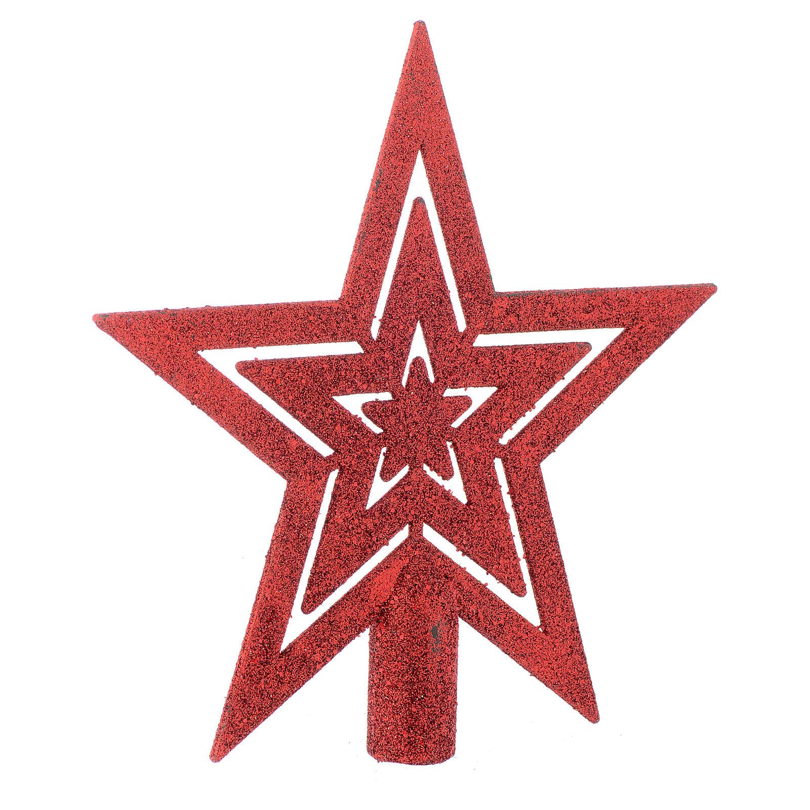 Cimier Sapin de Noël forme étoile rouge 4