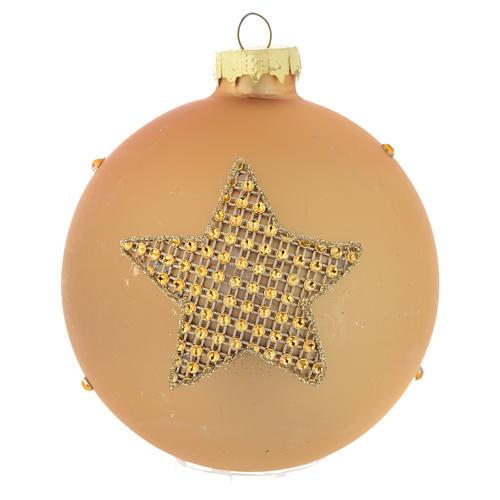 Palla Albero Natale 90 mm vetro oro strass 2