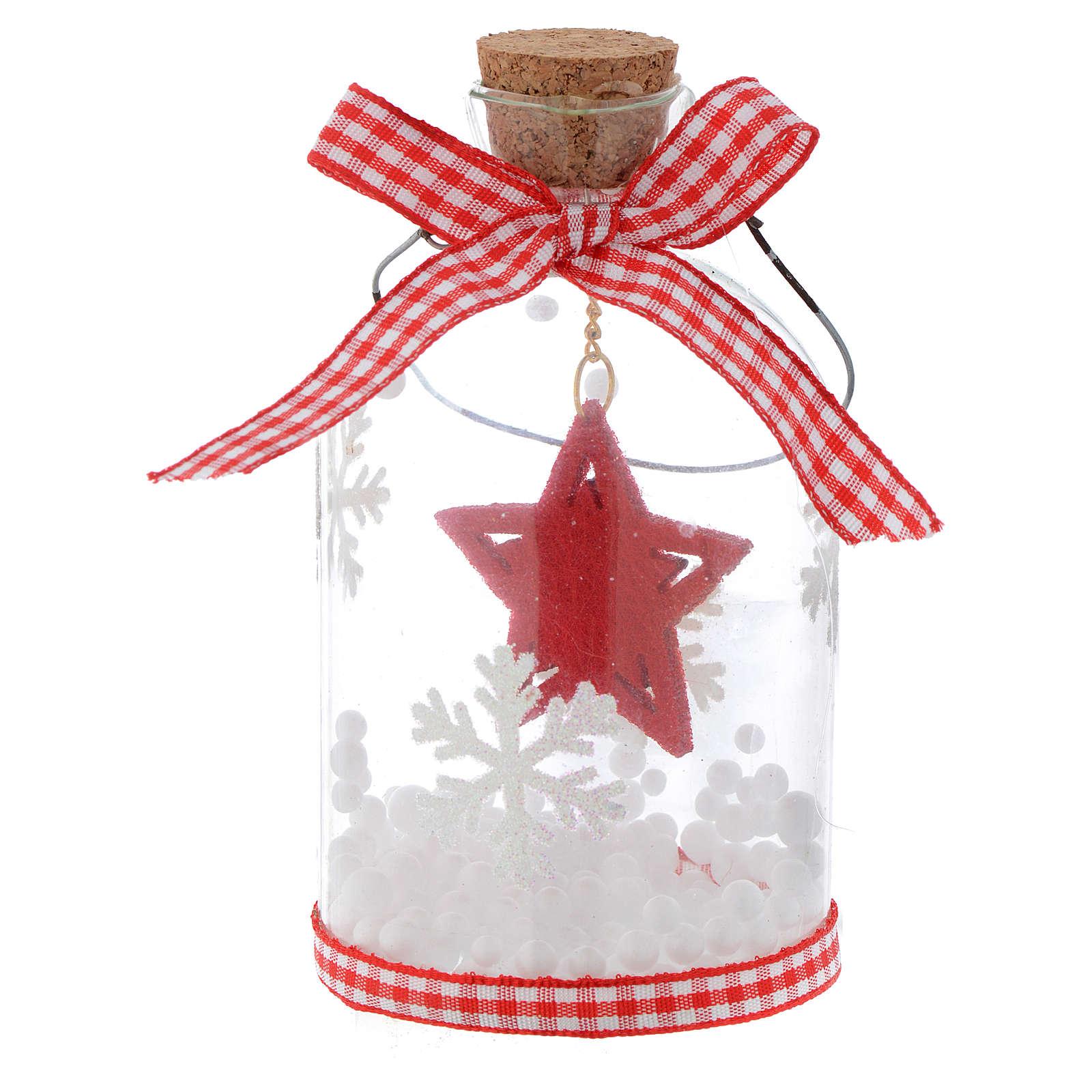 Adorno Árbol de Navidad botella de vidrio h 10 cm 4