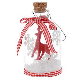 Adorno Árbol de Navidad botella de vidrio h 10 cm s3