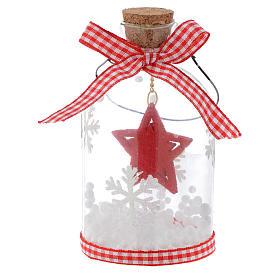 Décoration Sapin Noël bouteille verre h 10 cm s4