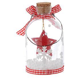 Décoration Sapin Noël bouteille verre h 10 cm s5