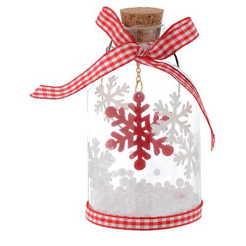 Décoration Sapin Noël bouteille verre h 10 cm 2