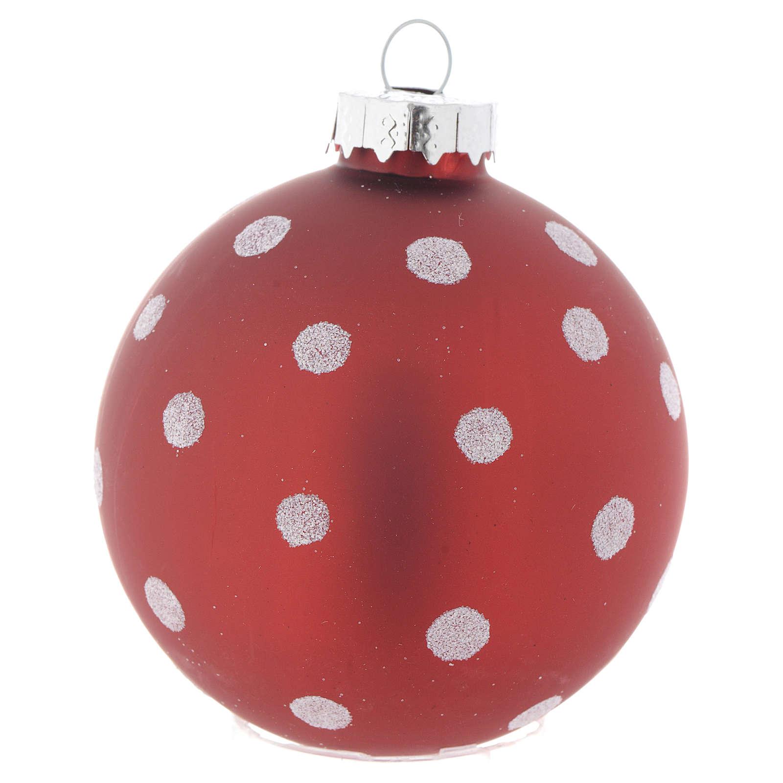 32cf856b9e1 Bola de vidrio roja 70 mm para árbol de Navidad 4