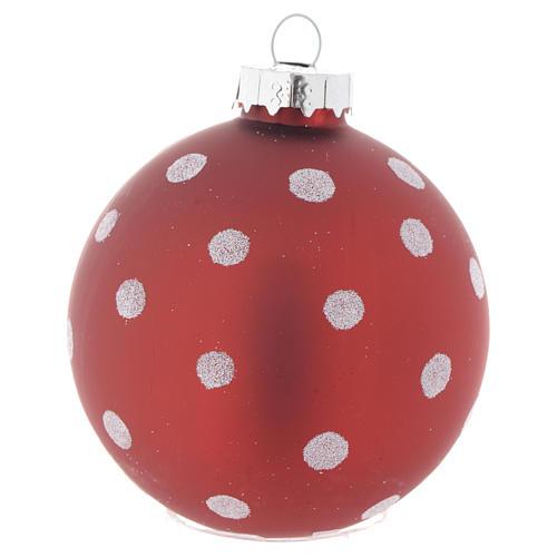 Palla vetro rossa 70 mm per albero di Natale 3