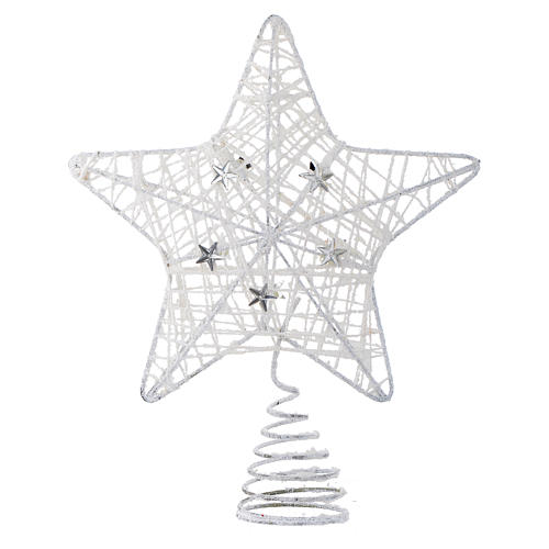 Christmas Tree Topper With White Glitter Star