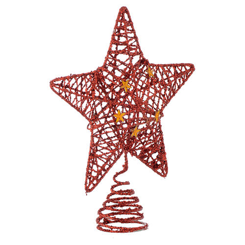 ... Christmas Tree topper with red glitter star 2 - Christmas Tree Topper With Red Glitter Star Online Sales On