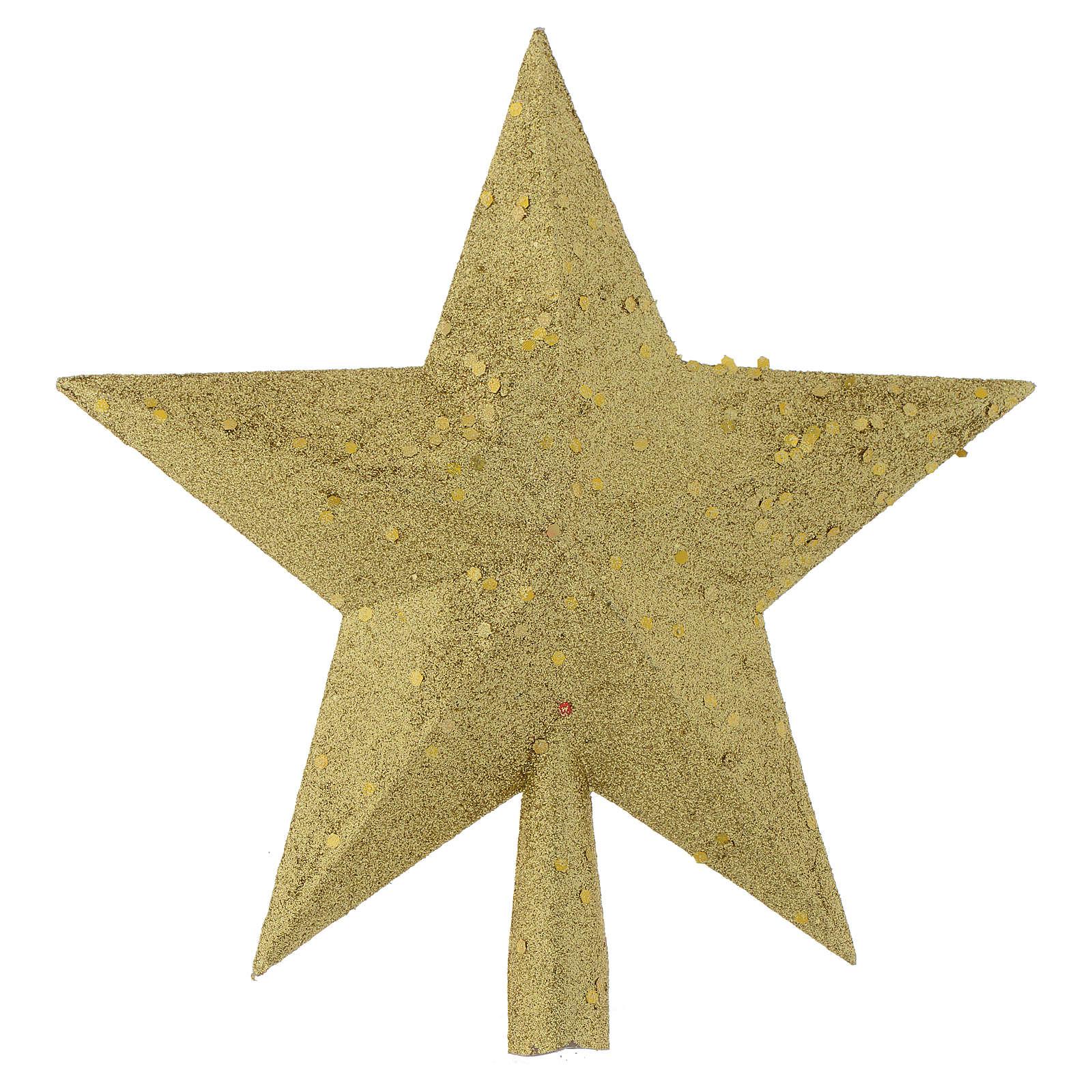 Cimier sapin Noël étoile paillettes dorées 4