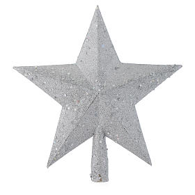 Christmas Tree topper with silver glitter star s1