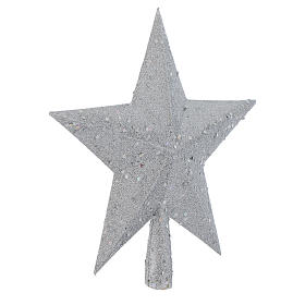 Christmas Tree topper with silver glitter star s2