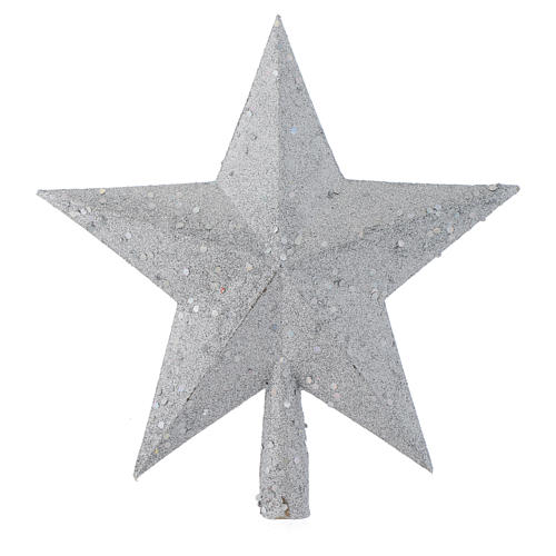Christmas Tree topper with silver glitter star 1