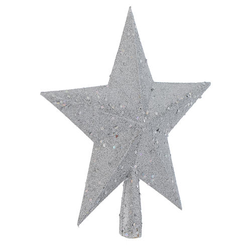 Christmas Tree topper with silver glitter star 2