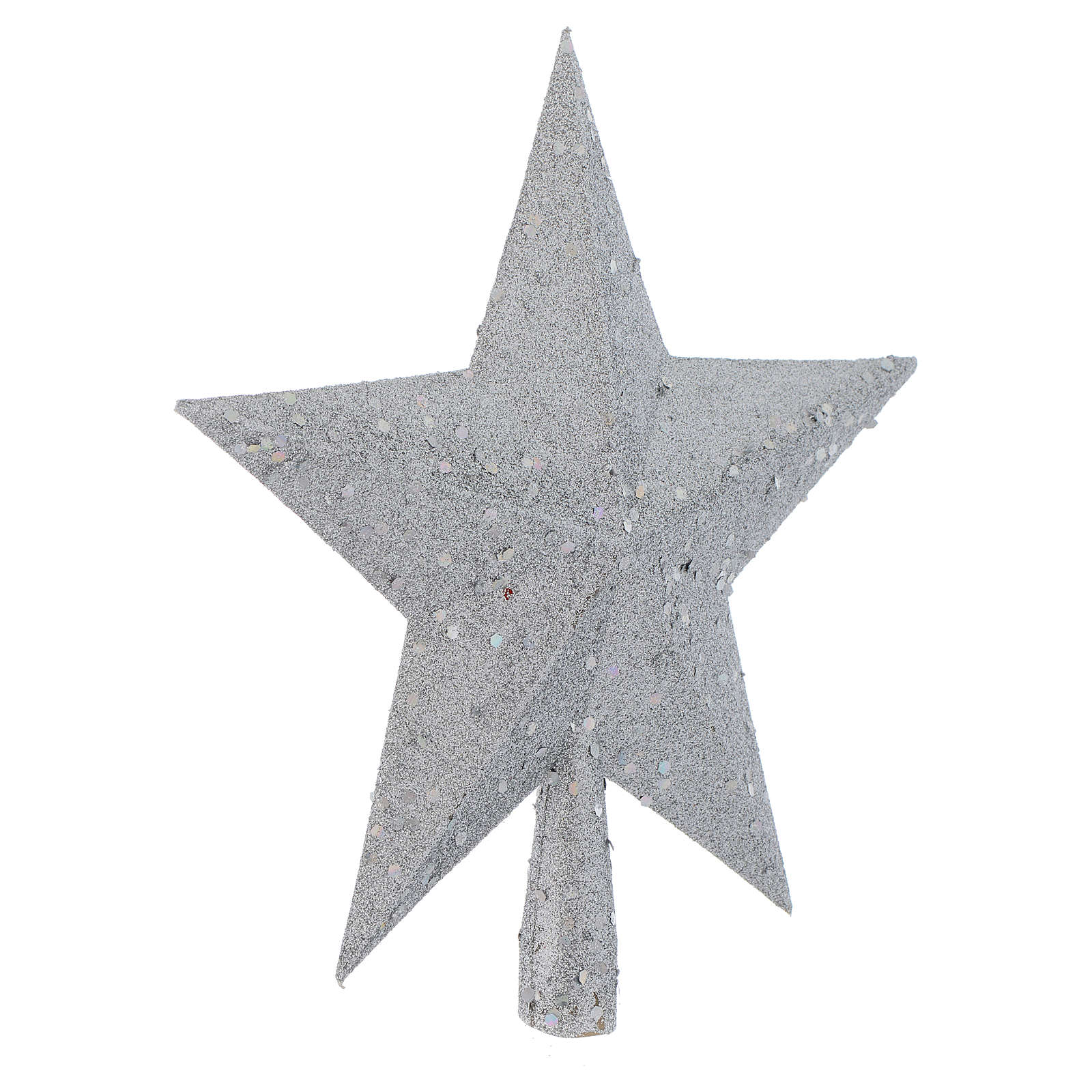Christmas Tree topper with silver glitter star 4