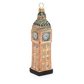 Big Ben Londres vidro soprado adorno árvore Natal s1