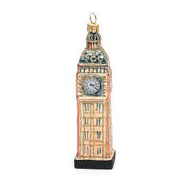 Big Ben Londres vidro soprado adorno árvore Natal s2