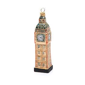 Big Ben Londres vidro soprado adorno árvore Natal s3