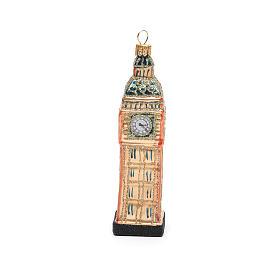 Big Ben Londres vidro soprado adorno árvore Natal s4