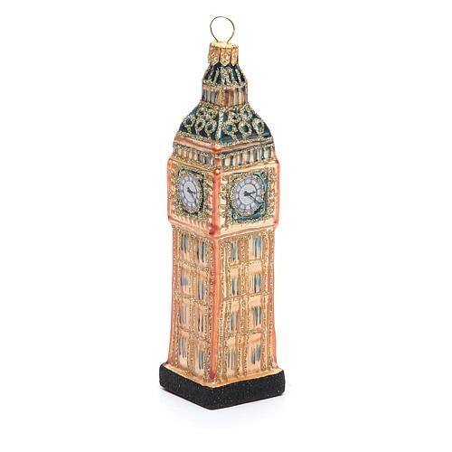 Big Ben Londres vidro soprado adorno árvore Natal 1