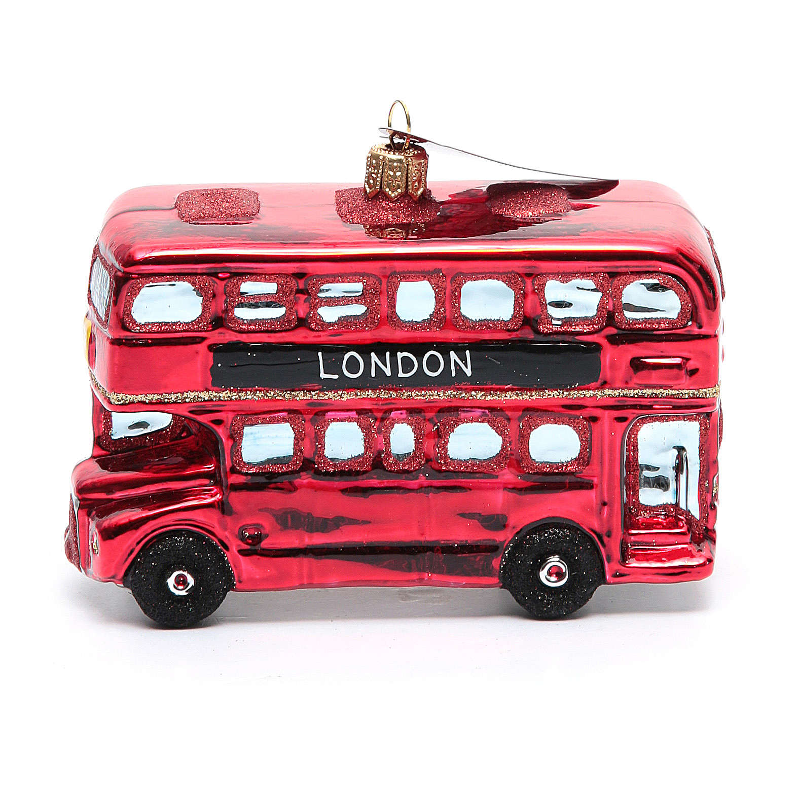 Autobús de Londres adorno vidrio soplado Árbol de Navidad 4