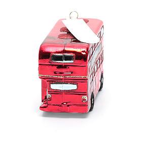 Autobús de Londres adorno vidrio soplado Árbol de Navidad s3