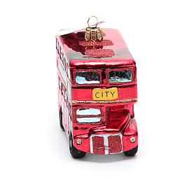 Autobús de Londres adorno vidrio soplado Árbol de Navidad s4