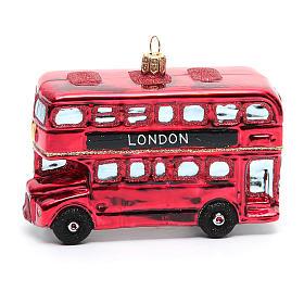 Autobús de Londres adorno vidrio soplado Árbol de Navidad s6