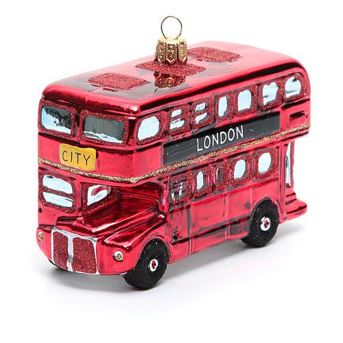 Autobús de Londres adorno vidrio soplado Árbol de Navidad 5