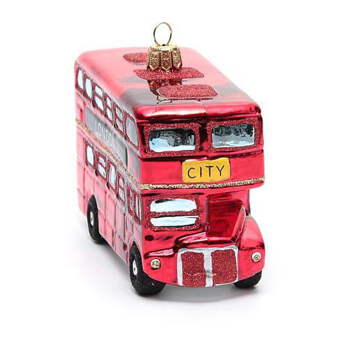 Autobús de Londres adorno vidrio soplado Árbol de Navidad 8