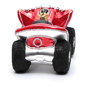 Blown glass Christmas ornament, Quad Bike s3