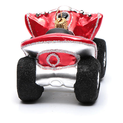 Blown glass Christmas ornament, Quad Bike 3