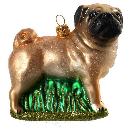 Blown glass Christmas ornament, pug 1 - Blown Glass Christmas Ornament, Pug Online Sales On HOLYART.com