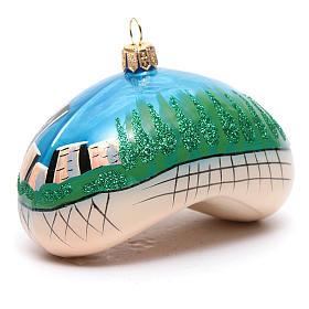Chicago Bean (Cloud Gate) adorno vidrio soplado Árbol de Navidad s3