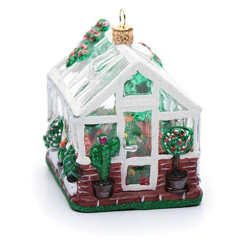 Serre (Greenhouse) décor verre soufflé sapin Noël 4